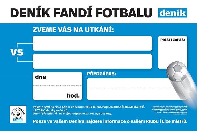 Kutnohorský deník rozdá klubům těchto 500 fotbalových poutačů.