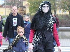 Halloweenská oslava v režii FK Čáslav.