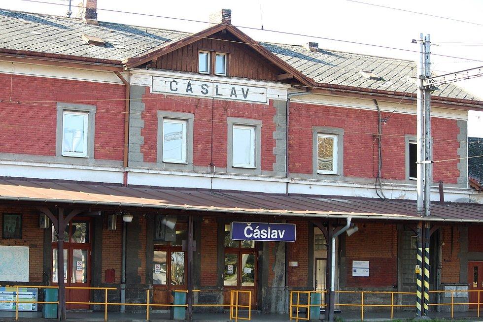 Vlakové nádraží v Čáslavi.