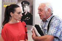 Ze zahájení putovní výstavy 'Život generála Františka Moravce' v galerii Městského muzea a knihovny v Čáslavi.