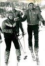 Zima 1987 byla mimořádně dlouhá a bohatá na sníh. Ve Zbraslavicích se dokonce jezdilo na vleku. Jeho hlavními organizátory byli Karel Brambora a Eva Jeřábková (na snímku).