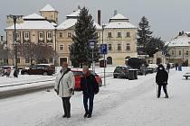 Kutná Hora se sněhovou nadílkou.