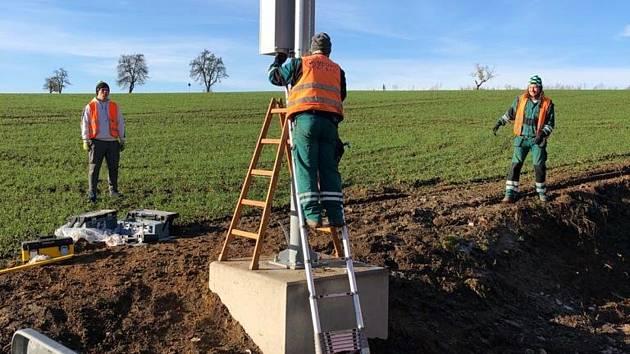 Výstavba stacionární meteorologické stanice.