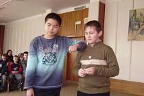Chlapci z šesté třídy zaujali porotu beat boxem a rapem vlastní tvorby