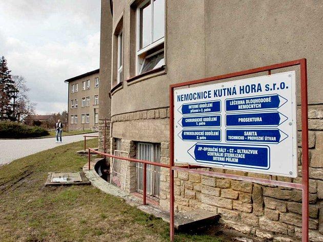 Areál nemocnice v Kutné Hoře