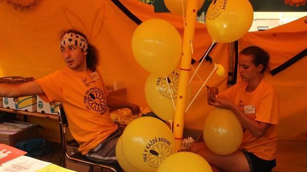 Liga proti rakovině Praha na Palackého náměstí v Kutné Hoře