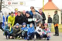 Silvestrovský běh ve Svatém Mikuláši.