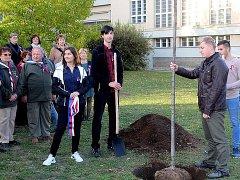 Studenti kutnohorské průmyslovky zasadili Lípu republiky.