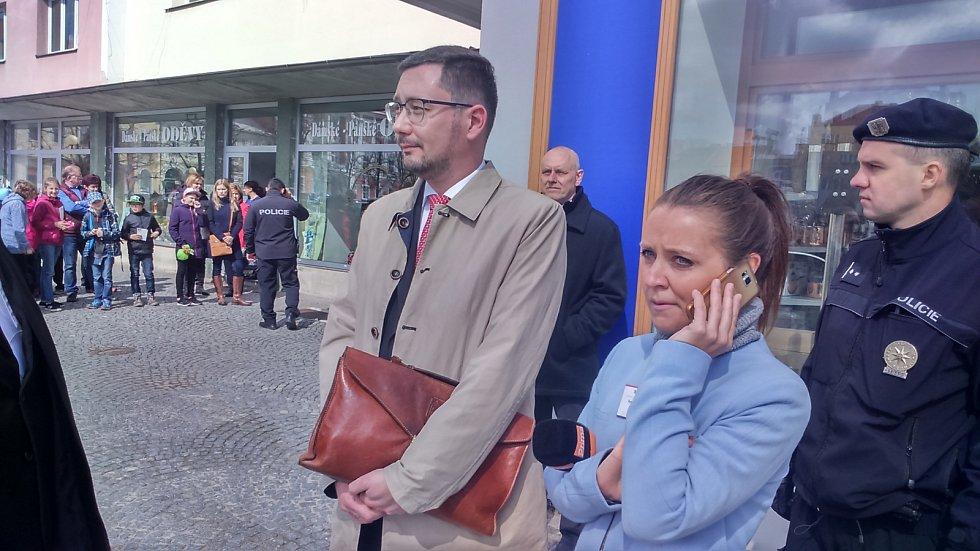 Jiří Ovčáček, mluvčí prezidenta Miloše Zemana, v Čáslavi