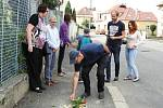 Z odhalení kamenů zmizelých v Čáslavi.