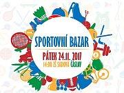 Pozvánka na sportovní bazar ve velké tělocvičně na Základní škole Sadová v Čáslavi.