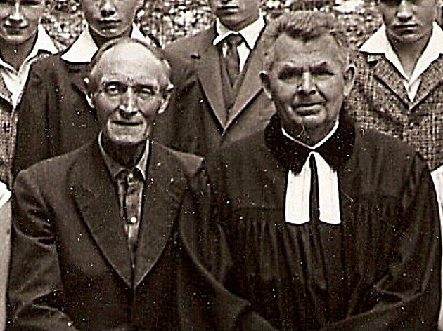 František Dobiáš (vpravo) s kurátorem Vášou