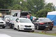 Z vyšetřování sebevraždy nedaleko křižovatky v blízkosti křižovatky Skalka pod Kaňkem.