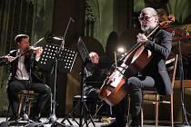 Mezinárodní hudební festival Kutná Hora: Roman Patočka (zleva), Igor Ardašev, Jiří Bárta.