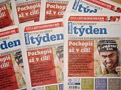 Titulní strana sedmnáctého čísla týdeníku Kutnohorský týden.