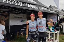 Martina Fabiánová a Michal Pavlík před startem Spartan Super Orte 2019.