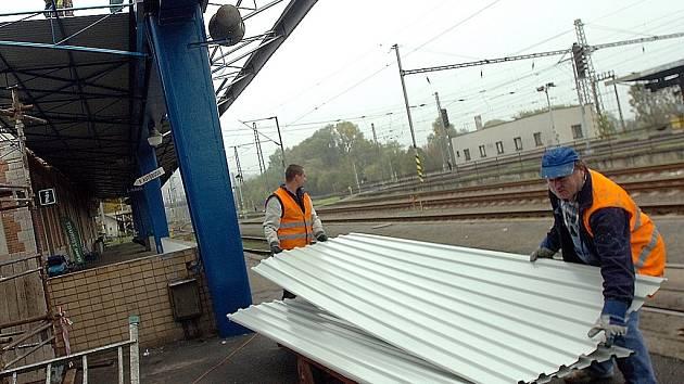 Opravy na Hlavním nádraží Kutná Hora. 23.10.2012