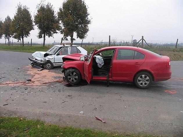 Nehoda u obce Druhanice na Kutnohorsku 7. října 2013