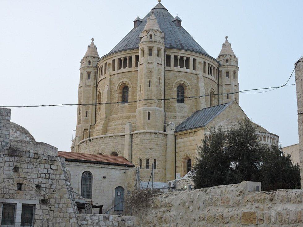 Hora Sion - místo poslední večeře Páně, zesnutí a nanebevstoupení Panny Marie i posledního odpočinku krále Davida.