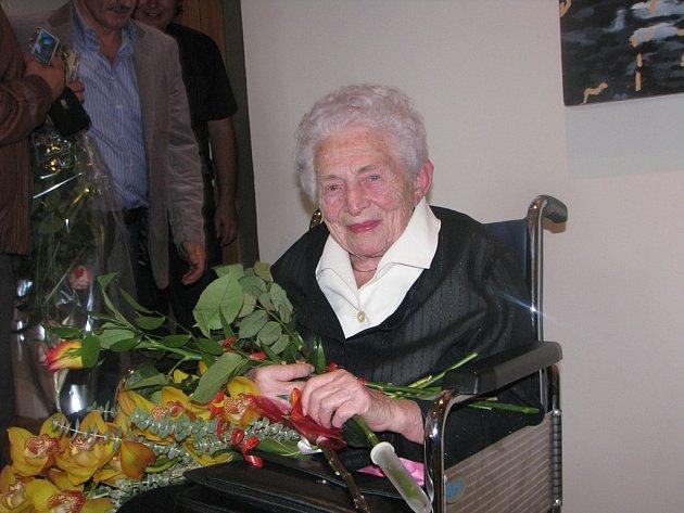 Miloslava Machotková oslavila sté narozeniny 5. října 2012.