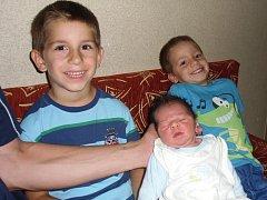 Vít Malimánek se narodil 5. srpna v Čáslavi. Vážil 3900 gramů a měřil 51 centimetrů. Doma v Církvicích ho přivítali maminka Miroslava, tatínek Tomáš a bratři Petr a Matěj.