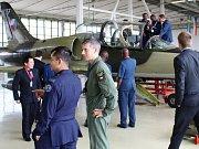 Prohlídka letounu L-39 Albatros z výzbroje Vzdušných sil AČR.
