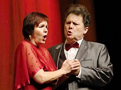 Operní pěvci Zora Jehličková a Lubomír Havlák připomněli publiku v Tylově divadle známé písně Karla Hašlera.