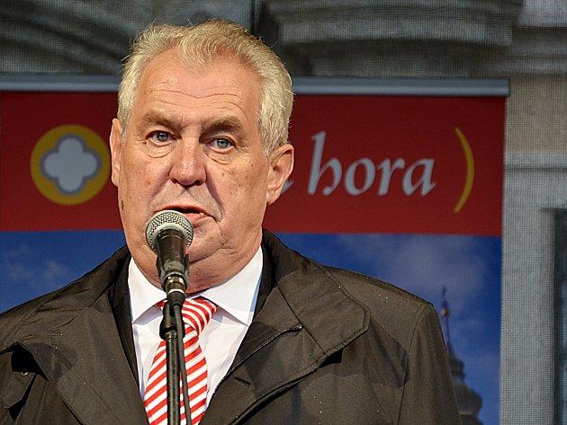 Prezident Miloš Zeman navštívil Kutnou Horu