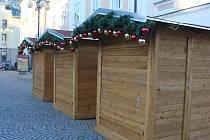 'Vánoční budky' na Palackého náměstí v Kutné Hoře.