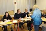 Prezidentské volby 2018 na ZŠ Sadová v Čáslavi v sobotu 13. ledna.