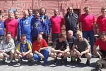 Účastnící utkání Konojedy - Sázava.