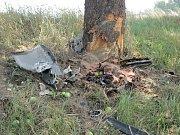 Místo tragické dopravní nehody na silnici II/125 mezi Malejovicemi a Nechybou.