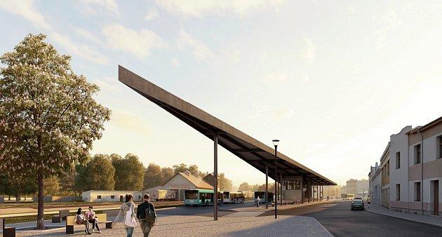 Vizualizace nového terminálu vKutné Hoře.