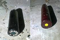 Nalezené patrony Yperit a Chlorpikrin v čáslavských kasárnách 16. března 2014