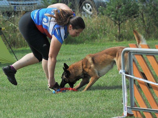 V areálu kynologického klubu se konala soutěž v agility.