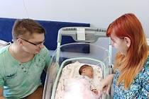 Eliška Škorpilová přišla na svět 11. června 2020 v 9.16 hodin v Čáslavi. Pyšnila se porodními mírami 3360 gramů a 49 centimetrů. Doma v Nemošicích se z ní těší maminka Kateřina a tatínek David.