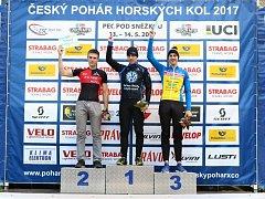 Kutnohorský závodník na horských kolech Jakub Kavalír dojel v Peci pod Sněžkou dvakrát na druhém místě.