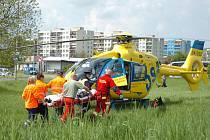 Nehoda motocyklu a osobního automobilu v Kutné Hoře. 2. 5. 2011