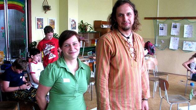 Tereza Mocková a Petr Matoušek z občanského sdružení Prostor