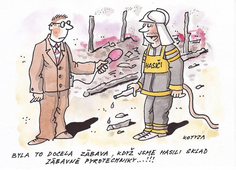 Kreslený humor Pavla Kotyzy.