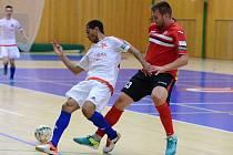 2. kolo Chance futsal ligy: FC Benago Zruč n. S. - SK Slavia Praha 6:3, 16. září 2016.