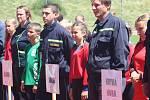 Mladí hasiči obsadili atletický stadion Olympia