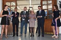 Ze slavnostního otevření zrekonstruovaných dílen ve Střední průmyslové škole v Kutné Hoře.