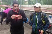 Monika Hájková (vpravo) na Beskydské 7.
