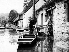 Povodeň v Kácově 1962.