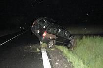 Dopravní nehoda na silnici I/2 u Kobylnice.