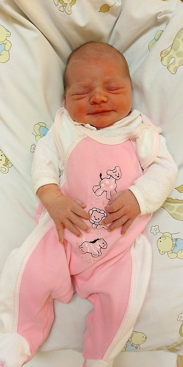 Adriana Petrdlíková přišla na svět 31. března 2020 v 11.45 hodin v čáslavské porodnici. Vážila 3550 gramů a měřila 50 centimetrů. Doma ve Vrdech se z ní těší maminka Petra a tatínek Michal.