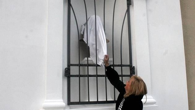 Odhalení busty Jana Ámose Komenského ve Svaté Kateřině