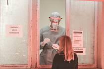 Odběrové místo pro pacienty s podezřením na nákazu koronavirem v Kutné Hoře.