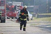 U kutnohorské vlakové zastávky hořel starý drážní objekt.